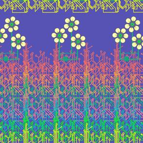 Bright as a daisy chain - blue