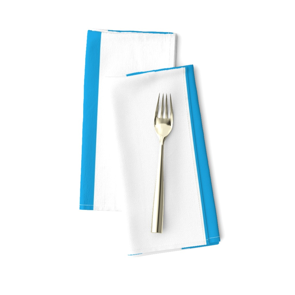 Amarela Dinner Napkins featuring Oktoberfest Bavarian Blue and White Large Cabana Stripes by paper_and_frill