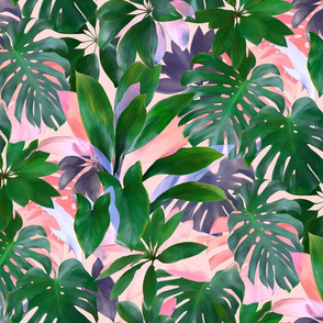 Bright Tropical Emerald Jungle
