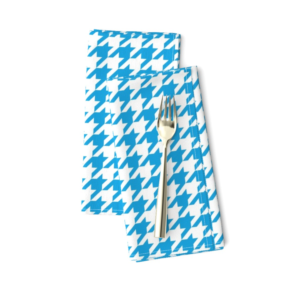 Amarela Dinner Napkins featuring Oktoberfest Bavarian Blue Houndstooth Check by paper_and_frill