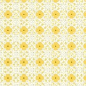 Yellow Bloom Rows M+M Yolk by Friztin