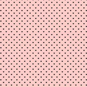 Black Hearts Peachy Pink