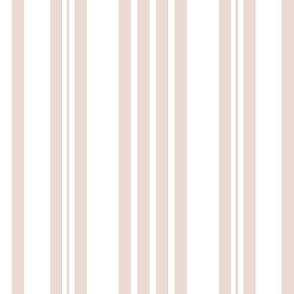 Blush Ticking Stripes
