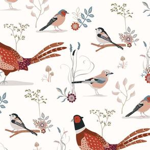 Birds - Late Autumn - larger scale