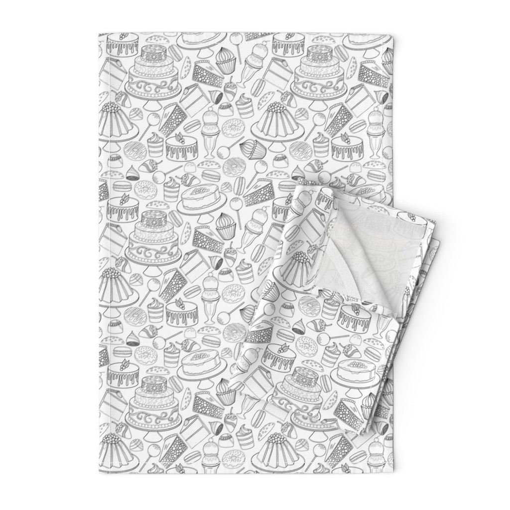 Orpington Tea Towels featuring Dessert Food Frenzy by emily_laughlin