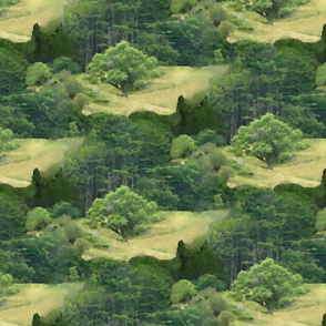 Forest Diversity forest collage crop  seamlessB3a