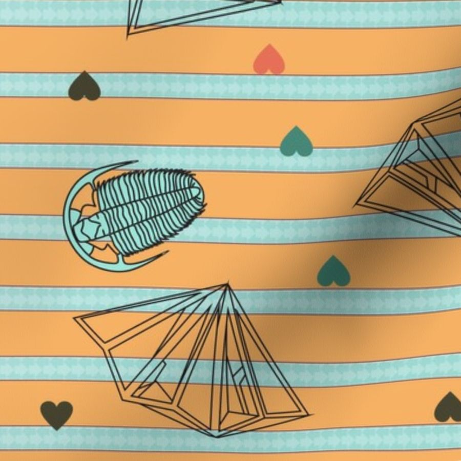 Geology Love: Fossils and Crystals - Spoonflower