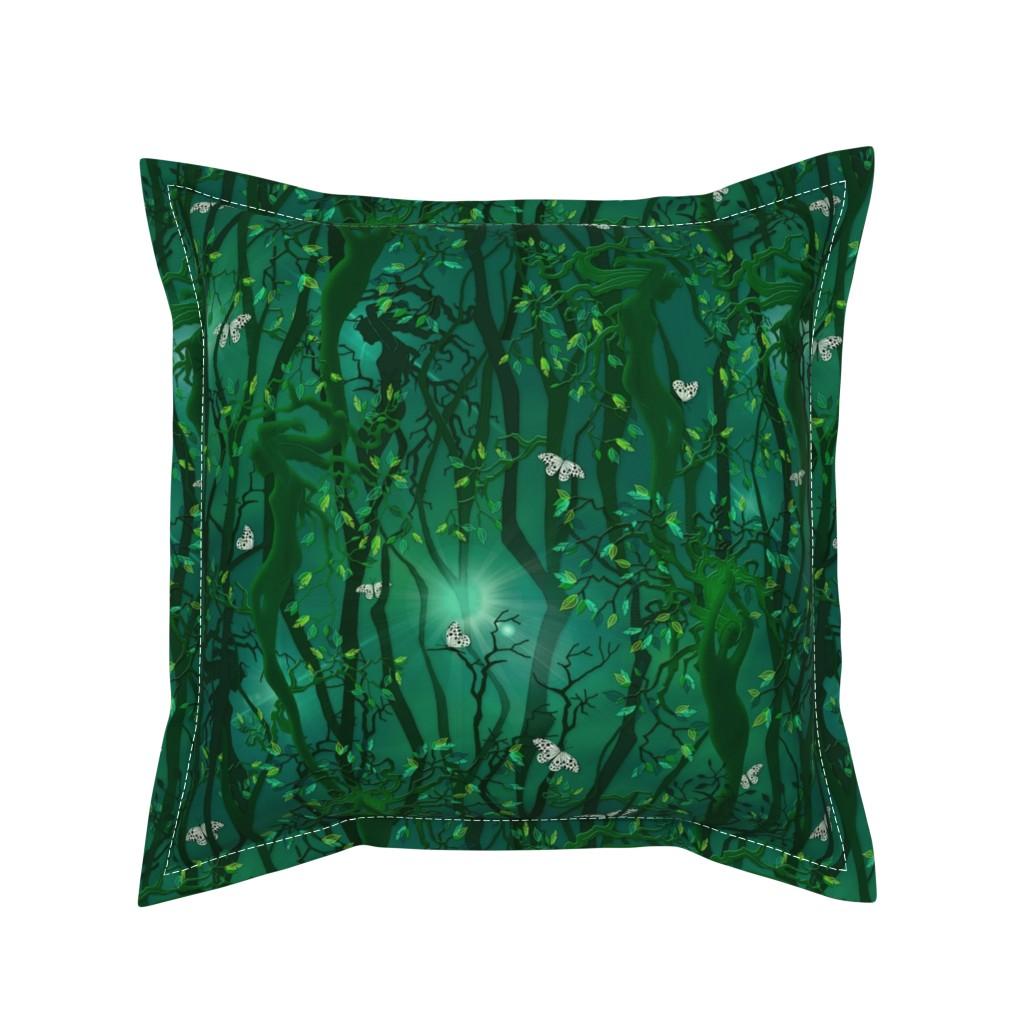 Serama Throw Pillow featuring Wood Nymph by j9design