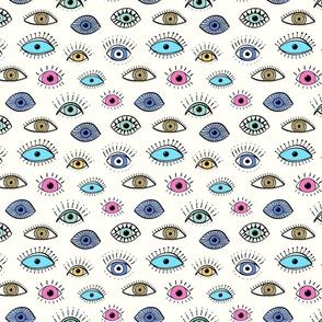 evil eye - multi colour (medium scale)