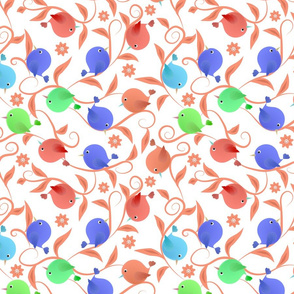 Funny colored birds