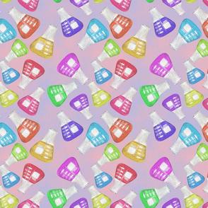Lab Flange Multicolor on Blue and Pink BG