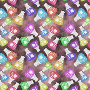 Lab Flange Multicolor on Black and Pink BG