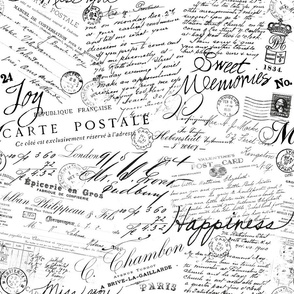 Vintage Text And Calligraphy