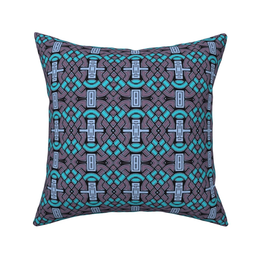 Catalan Throw Pillow featuring celtic 88 by hypersphere