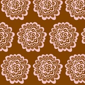 Flor - Pink on Brown