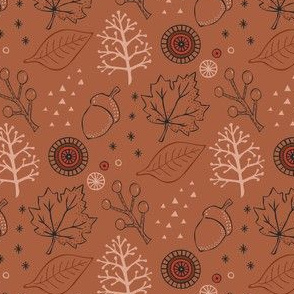 Late Autumn leaves - Brown