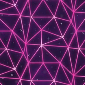 1980s retrowave neon grid