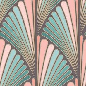 Art deco floral design