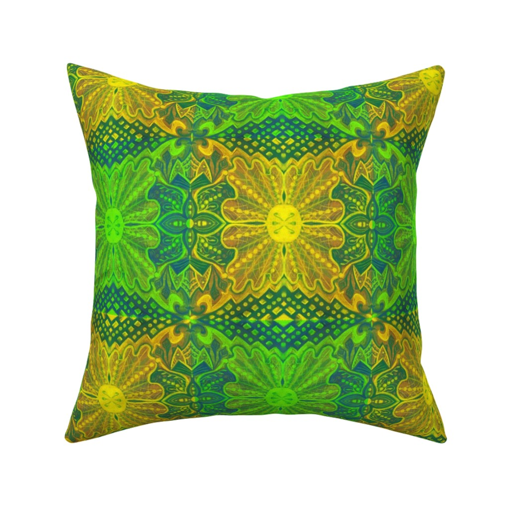 Catalan Throw Pillow featuring Oak King  by clipsocallipso