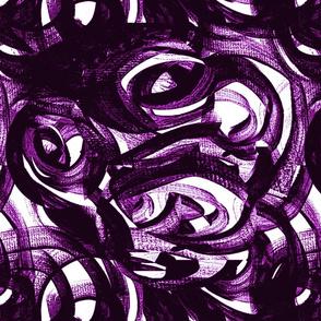 violet purple black and white modern circles