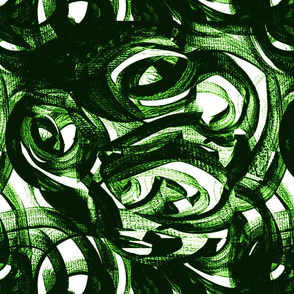 green black and white modern circles