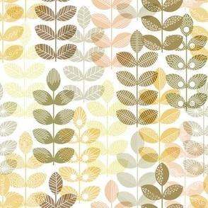 yellow geometric herbs