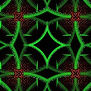 Bright geometric pattern - red and green