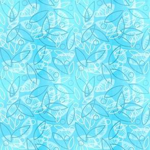 Sketchy Leaves (Blue)