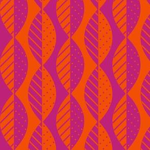 mod leaves pink orange
