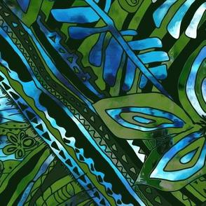 Emerald Forest and Hawaiian Blue Sky by kedoki