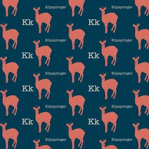K is for Klipspringer