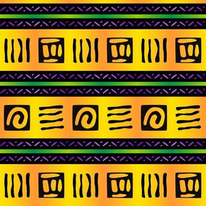Bold African Tribal Markings in Gold