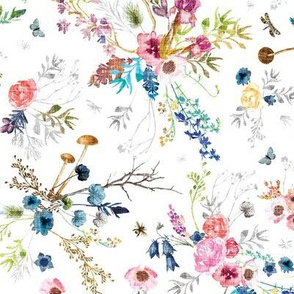 Wild Meadow (white) MED