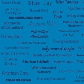 Birds (Indigo on Bright Blue)
