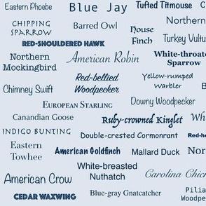 Birds (Indigo on Ice Blue)