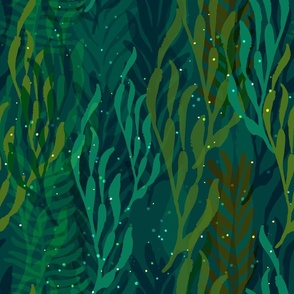 Underwater Emerald Forest - large scale
