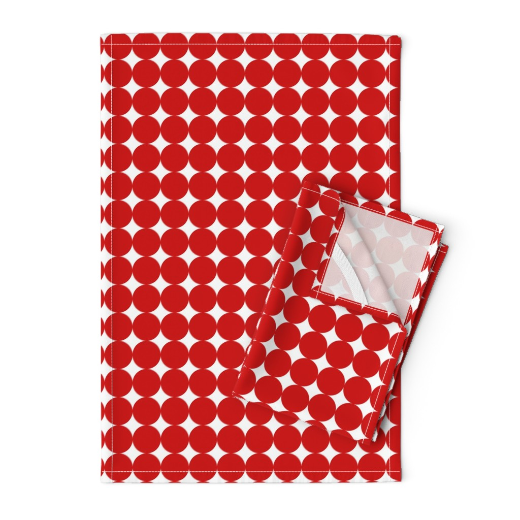 Orpington Tea Towels featuring Street scene red circle by elaphus_house