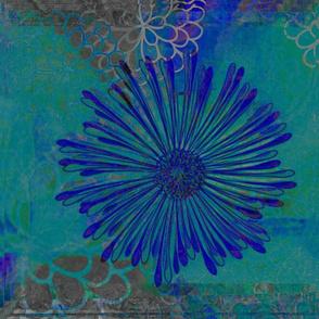 Blue and Teal Burst