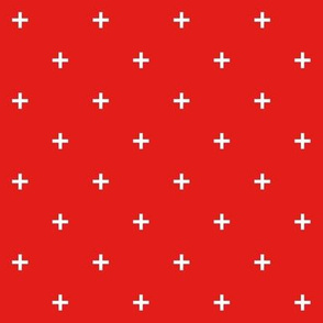 bright red swiss cross small