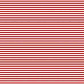 bright red pinstripes