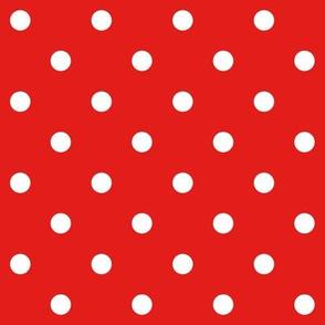 bright red polka dots