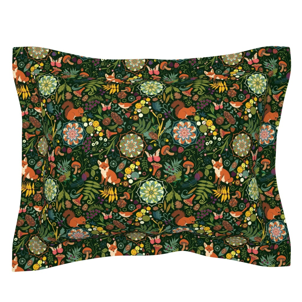 Sebright Pillow Sham featuring Treasures of the emerald woods by camcreative