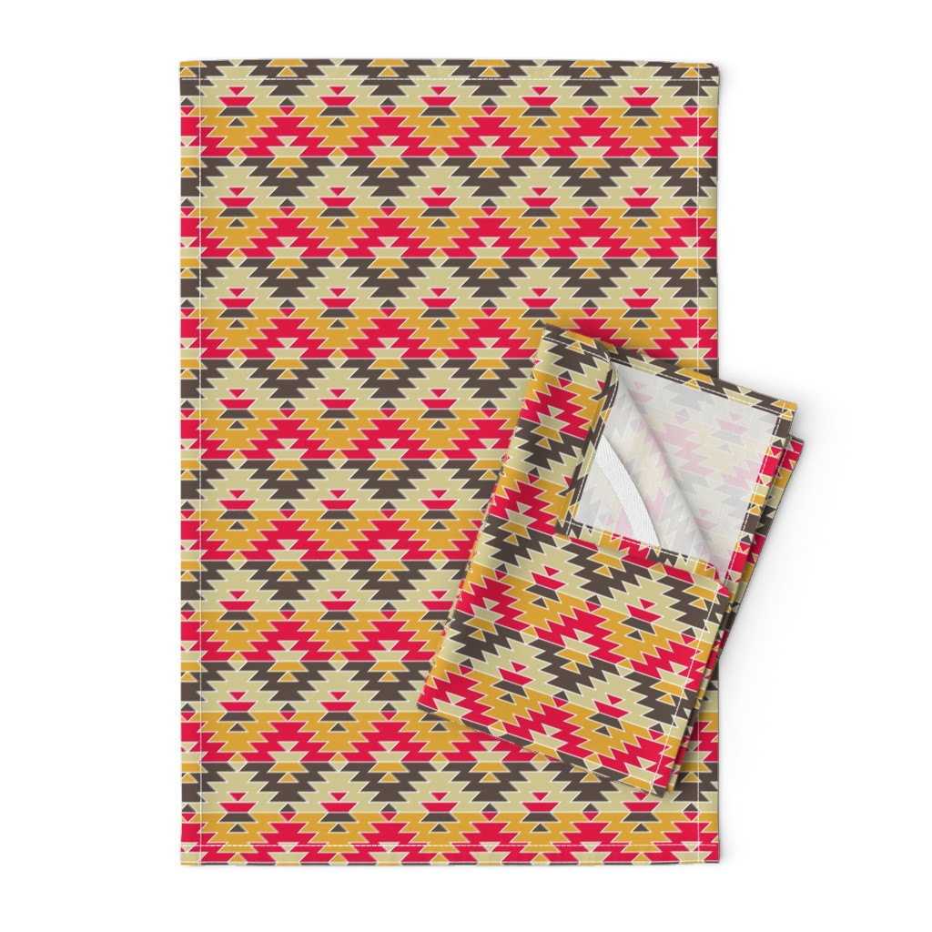 Orpington Tea Towels featuring 07752511 : jagged diamond : hot stuff by sef