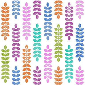 geometric colorful herbs