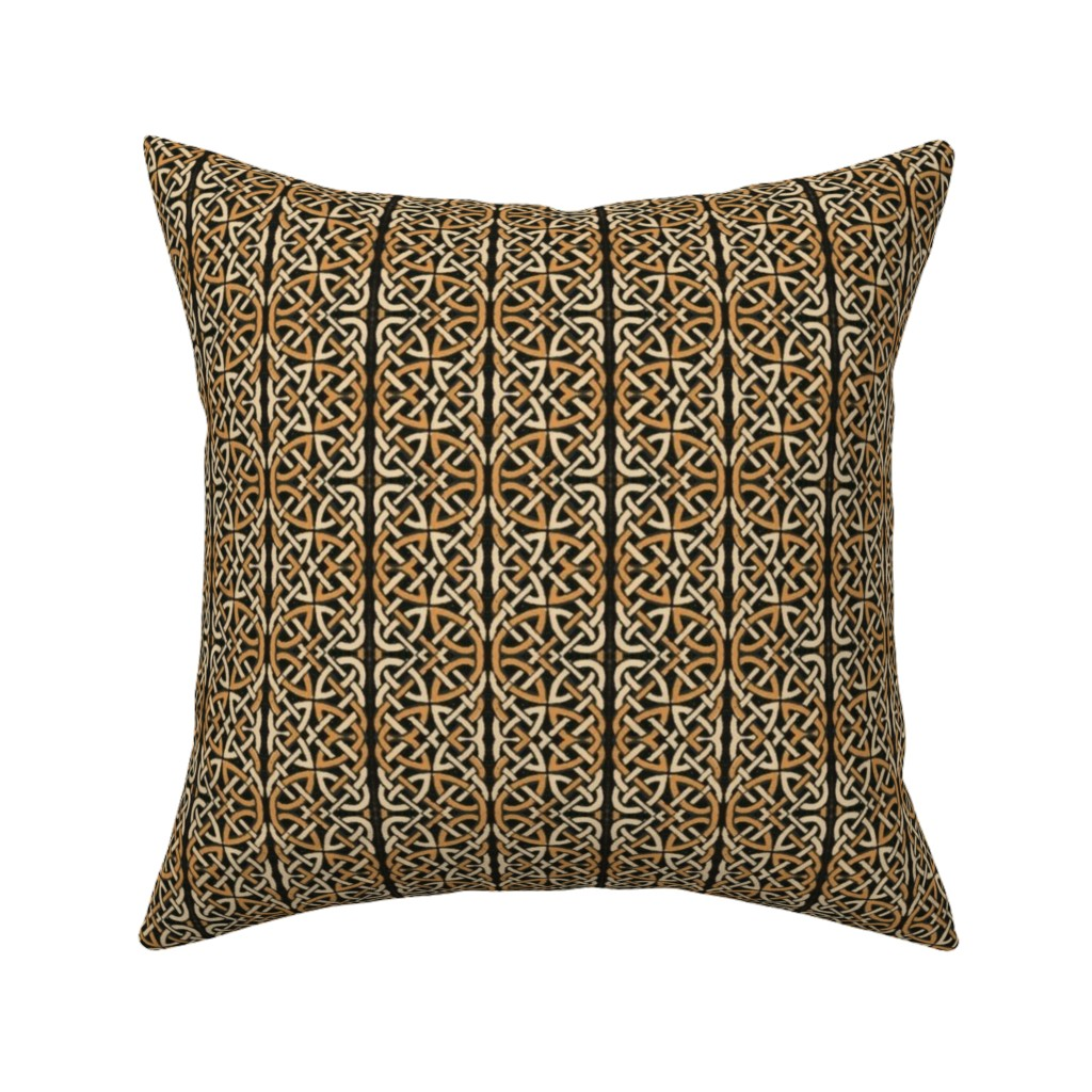 Catalan Throw Pillow featuring celtic 91 by hypersphere
