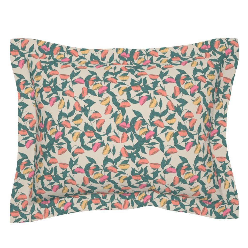 Sebright Pillow Sham featuring Californian poppies by katrinkastem
