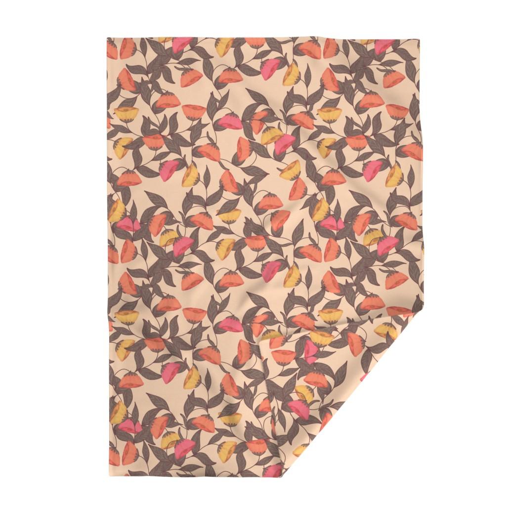 Lakenvelder Throw Blanket featuring vintage California poppies by katrinkastem