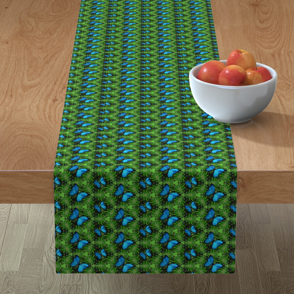 Minorca Table Runner featuring Emerald Forest by snaphappyscientist