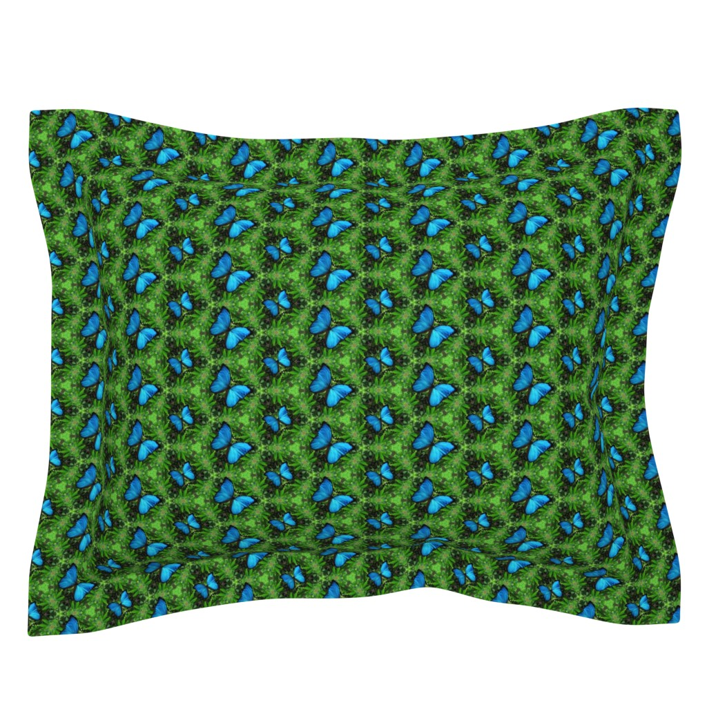 Sebright Pillow Sham featuring Emerald Forest by snaphappyscientist