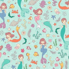 Mermaids Pattern - Smaller Print